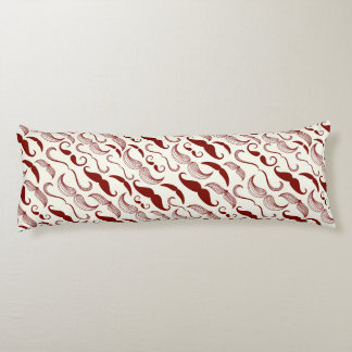 Red Mustache Pattern Body Pillow