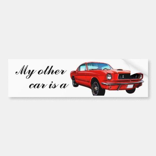 Red Mustang Bumper Sticker