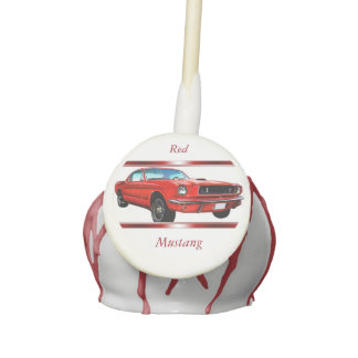 Red Mustang Cake Pops