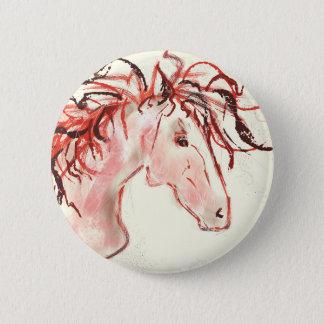 Red Mustang Pinback Button