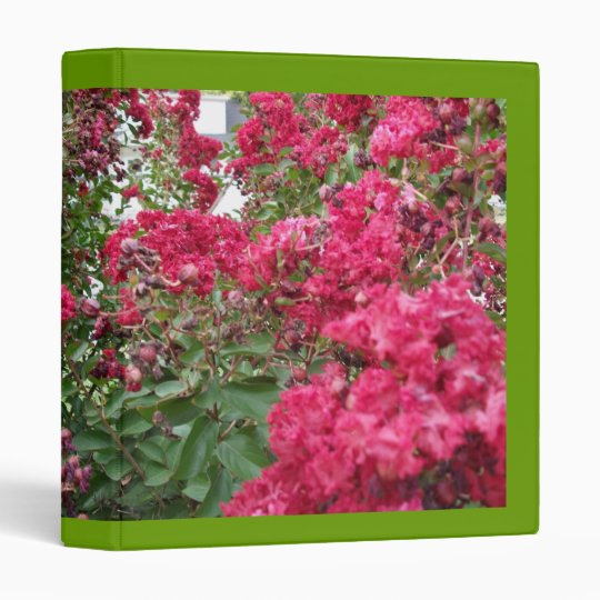 Red Myrtle Blooms Binder