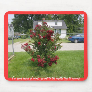 Red Myrtle Tree Mouse Pad