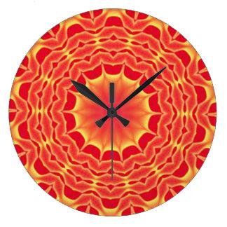 Red Mystery, Mandala Art Wall Clock