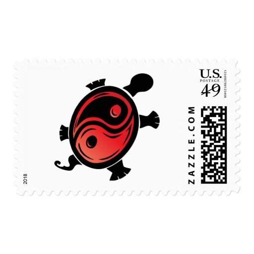 Red-n-Black-Yin-Yang-Turtle Stamp