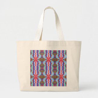 Red n Blue Light Sparkle Filament Pattern Tote Bags