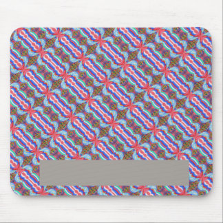 Red n Blue Light Sparkle Filament Pattern Mouse Pads