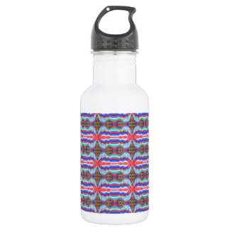 Red n Blue Light Sparkle Filament Pattern 18oz Water Bottle