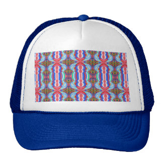 Red n Blue Light Sparkle Filament Pattern Trucker Hat