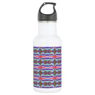 Red n Blue Light Sparkle Filament Pattern Water Bottle