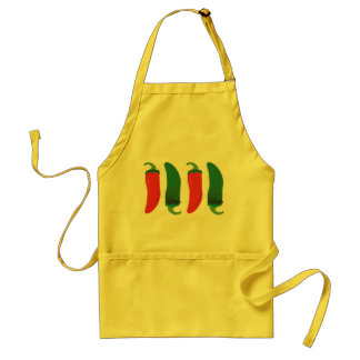 Red N Green Hot Peppers Adult Apron
