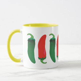 Red N Green Hot Peppers Mug