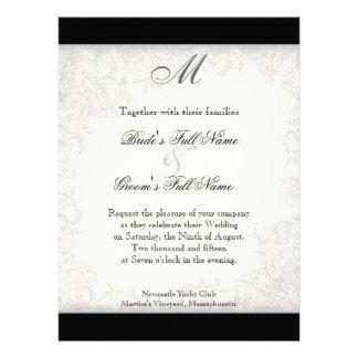 Red n White Striped Tulip - Wedding Invitation