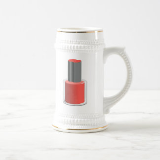 Red Nail Polish Beer Stein
