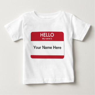 Red Name Tag Baby T-Shirt