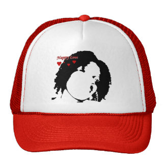 Red Nappy Love Hat