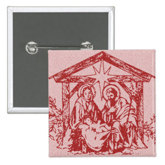 Red Nativity Buttons