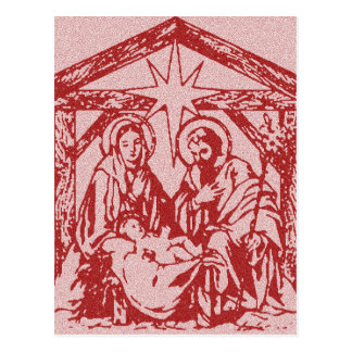 Red Nativity Postcards