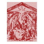 Red Nativity Postcards