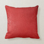 Red Natural Leather Look Throw Pillows