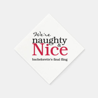 Red Naughty & Nice Final Fling Paper Napkins