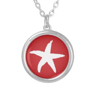 Red Nautical Sea Star Custom Necklace