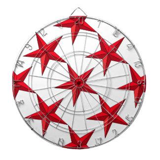 Red Nautical Star Dart Board