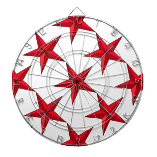 Red Nautical Star Dartboard With Darts
