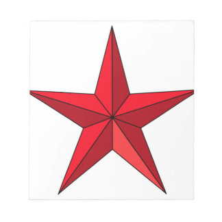 Red Nautical Star Notepad