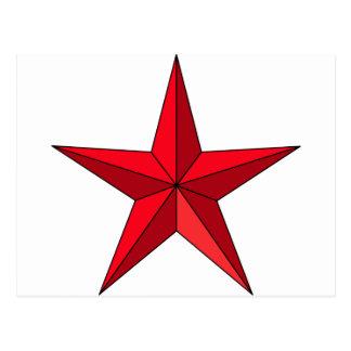 Red Nautical Star Postcard