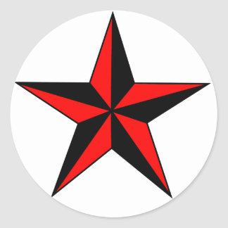Red Nautical Star Stickers