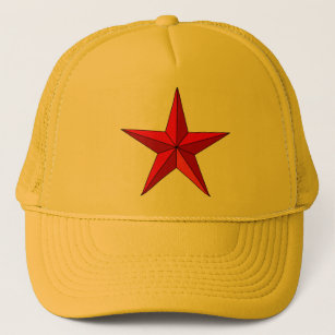 Red Nautical Star Trucker Hat b5e366a6c45
