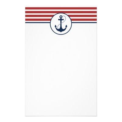 Rustic Nautical Wedding Note Paper / Navy   Zazzle.com