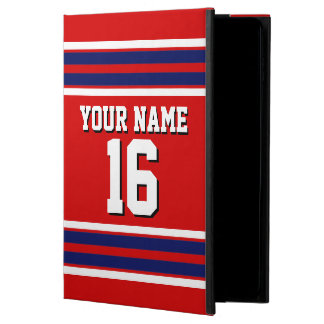 Red Navy Blue White Team Jersey Custom Number Name Powis iPad Air 2 Case