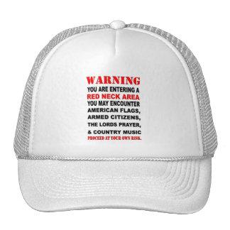 RED NECK AREA TRUCKER HAT