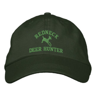 Red neck deer hunting embroidered baseball hat