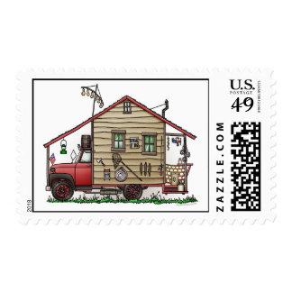 Red Neck Hillbilly Camper Stamps