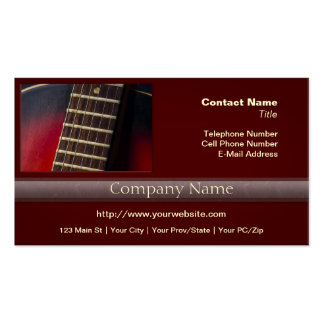 Red Neck HollowBody Guitar Pick-up Business Card Template