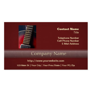 Red Neck HollowBody Guitar Pick-up Business Card Templates