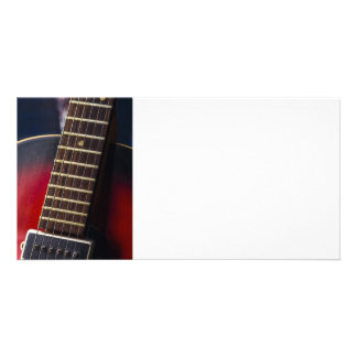 Red Neck HollowBody Guitar Pick-up Personalized Photo Card
