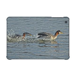 Red-necked Grebe Fight Wildlife Birdlovers Photo iPad Mini Case
