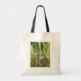 Red-necked Grebe Nest Tote Bags