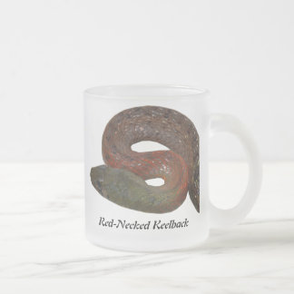 Red-Necked Keelback Frosted Glass Coffee Mug