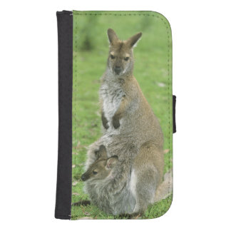 Red-necked Wallaby, Macropus rufogriseus), Phone Wallet Cases