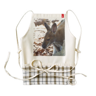 Red-necked Wallaby Zazzle HEART Apron