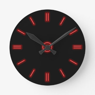Red Neon Clock