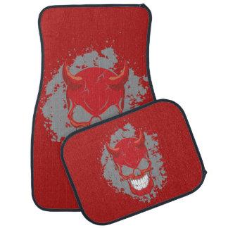 Red Neon Demon Car Floor Mat