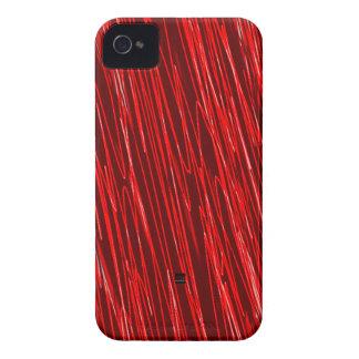 Red Neon Scratch iPhone 4 ID Case