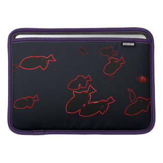 Red Neon Triggerfishes MacBook Sleeve