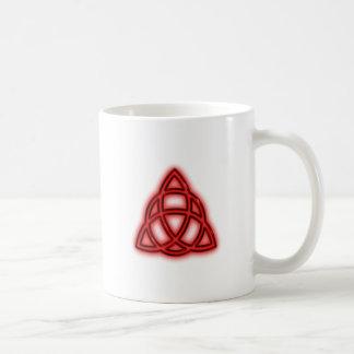 Red Neon Triquetra Coffee Mug