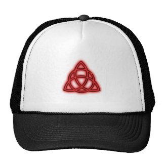 Red Neon Triquetra Trucker Hat